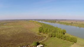 Uncovered ruins of a roman castrum along the Danube floodplain,aerial view. Castra Salsovia stock video