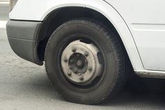 Uncovered wheel car  tire Royalty Free Stock Photos