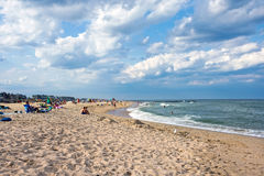 Uncrowded Beach View. SPRING LAKE, NEW JERSEY - JULY 3 - A view of the beach on a late Summer afternoon on July 3 2017 in Spring Lake NJ Royalty Free Stock Photos