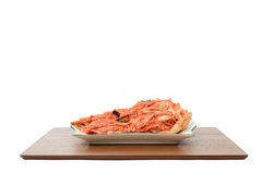 Uncut Gimchi on a plate Royalty Free Stock Photos