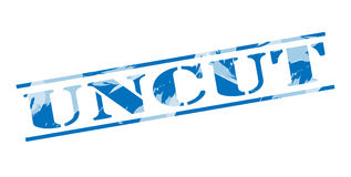 Uncut policy blue stamp. On white background Stock Images