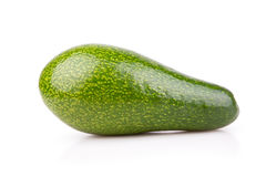 Uncut ripe avocado isolated Royalty Free Stock Photos