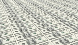 An uncut sheet of one hundred dollars Stock Photo