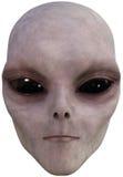 UND Außerirdische-Gesicht lokalisiert stock abbildung