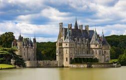 15. und Chateau des 16. Jahrhunderts de la Bretesche Lizenzfreie Stockfotos