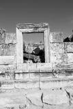 und der römisches Tempelgeschichte-pamukkale alte Bau herein wie Stockfotos