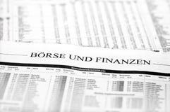 Und Finanzen de Boerse Image libre de droits