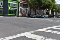 17. und Folsom-Straßen der niedrigste Punkt in San Francisco, 1 Stockfoto