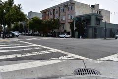 17. und Folsom-Straßen der niedrigste Punkt in San Francisco, 3 Lizenzfreies Stockfoto