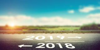 2019 und 2018 Jahre stockbild