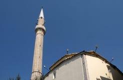 Und ` Rand Bey Mosque auf Skanderbeg-Quadrat, Tirana lizenzfreie stockbilder