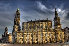 Und Schlosskirche de Schloss em Dresden Imagens de Stock Royalty Free