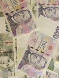 1000 und 2000 tschechische Korunabanknoten Stockfotos