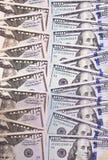 100 und 50 US-Dollar Zusammenfassungshintergrund Stockfotos