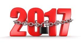 2017 und Verschluss Stockbild