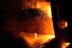 Und von einer alten Metalllebensdauer Stockbild