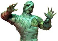 undead неона мумии зеленого света Стоковые Изображения RF