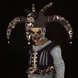 Undead clown portrait , CG 3D Stock Photos