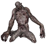 Undead creature. 3D rendered illustration of undead creature on white background isolated Royalty Free Stock Photo