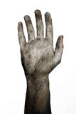 Undead hand. Undead right hand dying and wave goodbye Royalty Free Stock Images