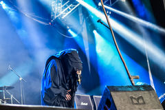 Undead Prophecies in Hellfest 2016. UNDEAD was founded by 5 individuals back from the dead with a similar musical vision who decided to gather reviving forces in Royalty Free Stock Photo
