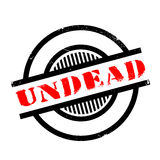 Undead rubber stamp Royalty Free Stock Photo