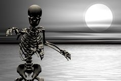 Undead skeliton Stock Photo