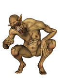 Undead with stitched skin. Squat stock illustration