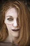 Undead woman. Close up of an undead woman Royalty Free Stock Image