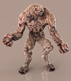 Undead zombie fiend. Undead angry zombie fiend character with clenched fists Stock Photo