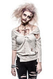 Undead zombie girl. A scary undead zombie girl Stock Photos