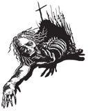 Undead, Zombie - Vektor, freihändig skizzierend Lizenzfreies Stockfoto