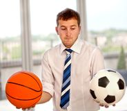 Undecided business man Royalty Free Stock Image