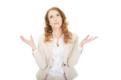 Undecided business woman. Stock Photography