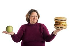 Undecided start diet Royalty Free Stock Images