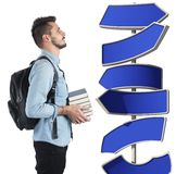 Undecided student Stock Images