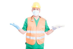 Undecided worker or employee searching for job concept Stock Photo