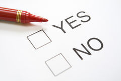 Undecided 'Yes/No' question Royalty Free Stock Photos