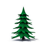 Undecorated christmas tree Royalty Free Stock Photos