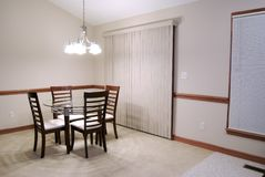 Undecorated Dining Room stock photos