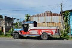 Undecorated jeepney Obrazy Stock