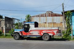 Undecorated jeepney Stock Images