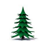 Undecorated Weihnachtsbaum Lizenzfreie Stockfotos
