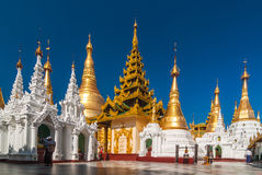 Undefined Buddhist procession do worship around Shwedagon at Pagodaprocession do worsh Stock Image