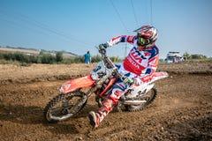 Undefined rider on Polish Motocross Championship Royalty Free Stock Photography