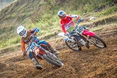 Undefined rider on Polish Motocross Championship Stock Images