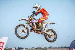 Undefined rider on Polish Motocross Championship Stock Image