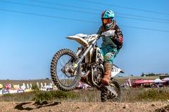 Undefined rider on Polish Motocross Championship Poland, Gdansk 11 Septemeber 2016 Royalty Free Stock Photos