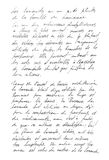 Undefined text french. Handwritten letter. Handwriting Royalty Free Stock Photo