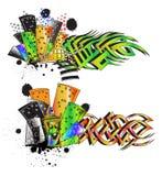 Undegraund graffiti street urban stock illustration